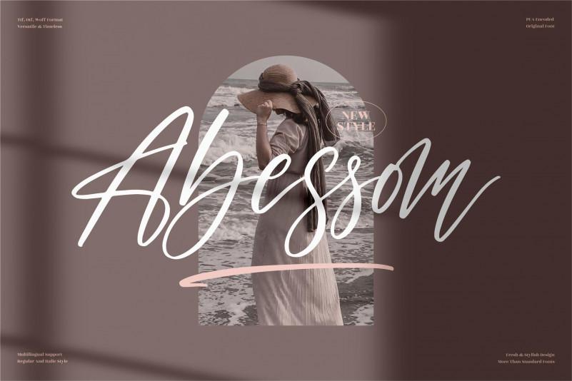 Abessom Handwritten Font