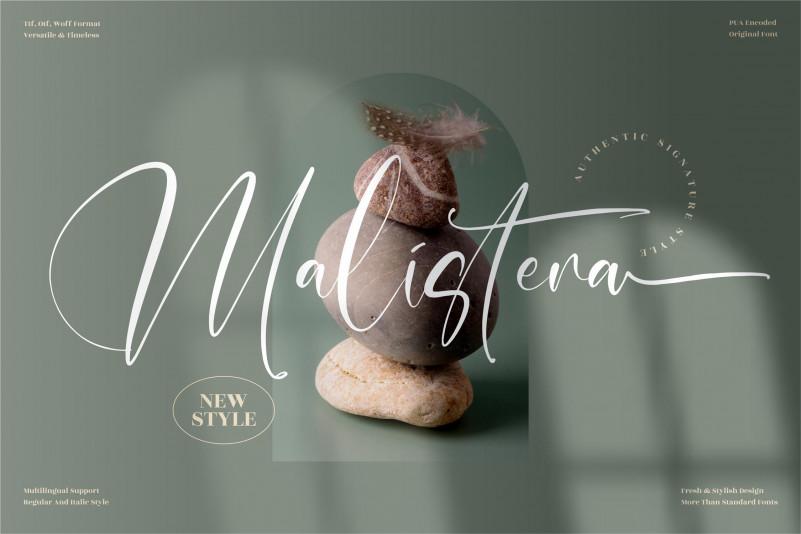 Malistera Signature Font