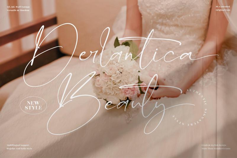 Derlantica Beauty Signature Font