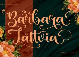 Barbara Lattvia Script Font
