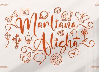 Marliana Alisha Script Font