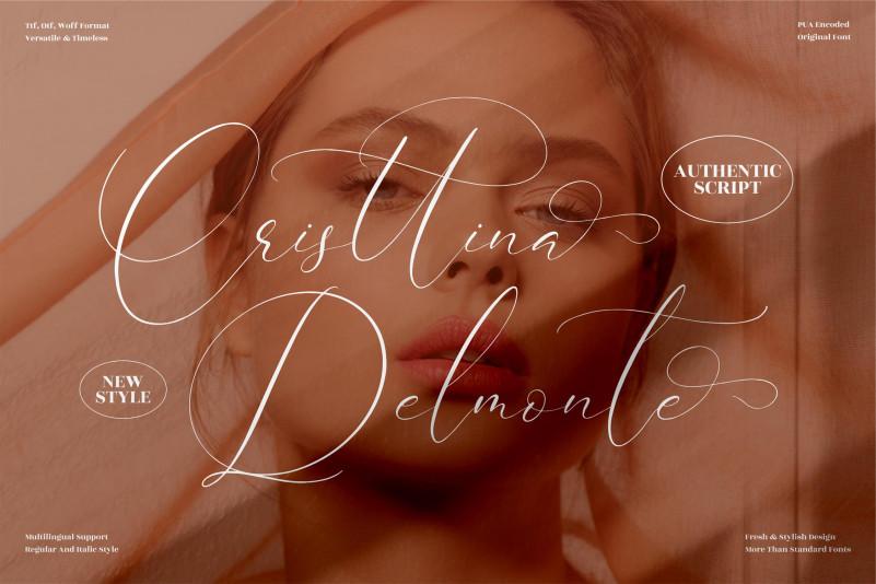 Cristtina Delmonte Script Font