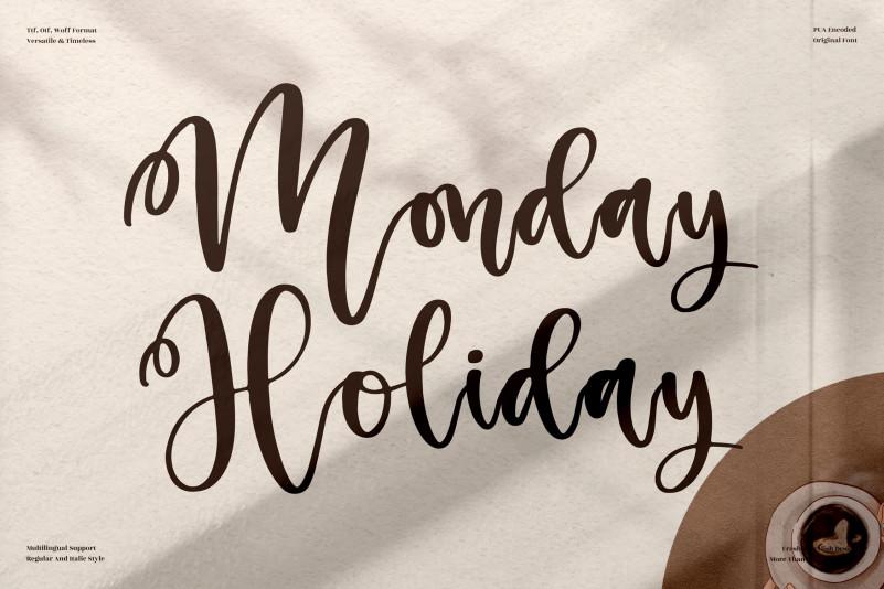 Monday Holiday Script Font