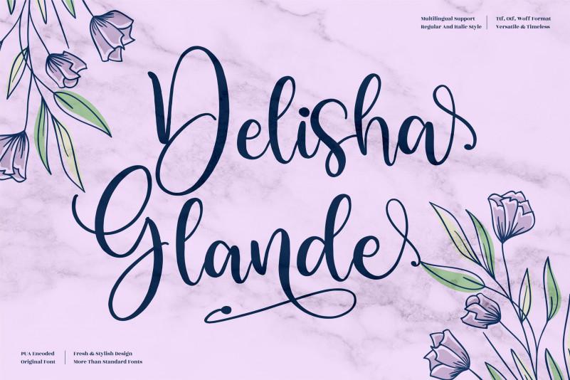 Delisha Glande Script Font