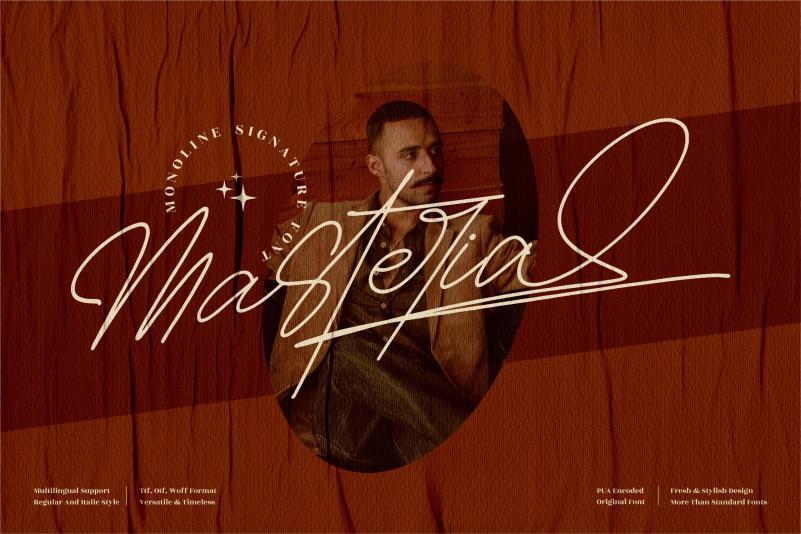 Masteria Signature Font