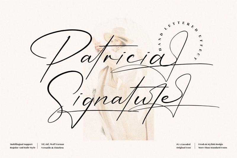 Patricia Signature Font