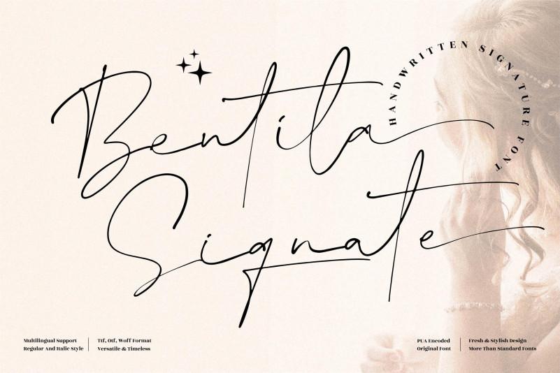Bentila Signate Script Font