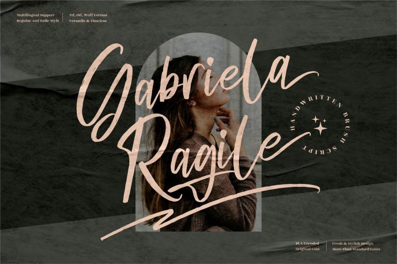 Gabriela Ragile Brush Font