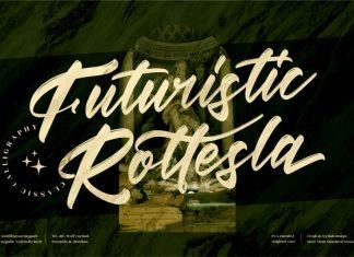 Futuristic Rottesla Script Font