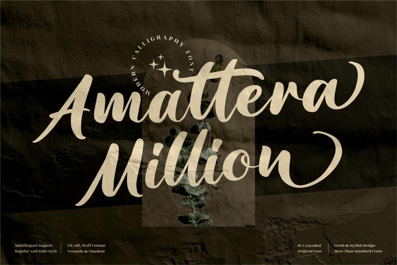 Amattera Million Calligraphy Font