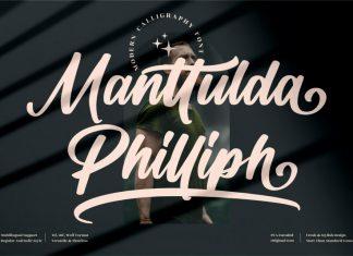 Manttulda Philliph Calligraphy Font
