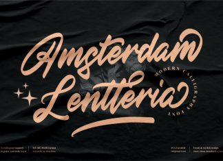 Amsterdam Lentteria Calligraphy Font