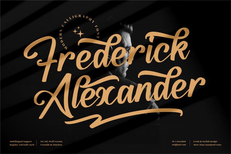 Frederick Alexander Calligraphy Font