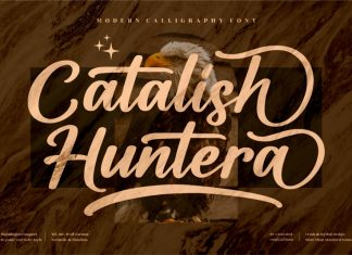 Catalish Huntera Calligraphy Font