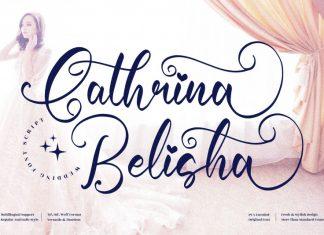 Cathrina Belisha Script Font