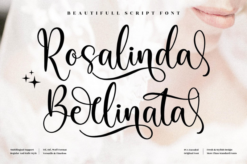 Rosalinda Berlinata Script Font