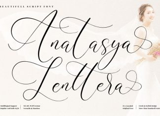Anatasya Lenttera Script Font