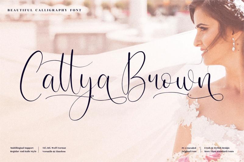 Cattya Brown Script Font