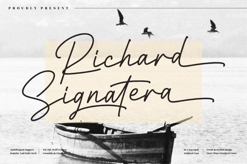 Richard Signatera Font
