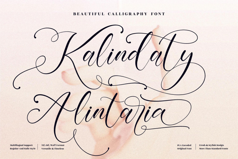 Kalindaty Alintaria Script Font