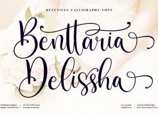 Benttaria Delissha Script Font