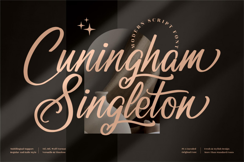 Cuningham Singleton Calligraphy Font