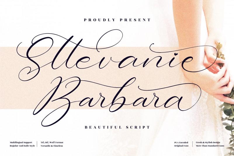 Sttevanie Barbara Script Font