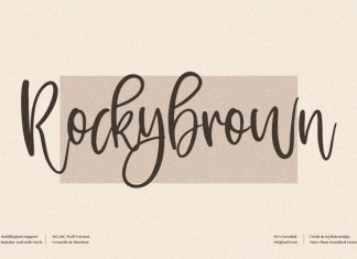 Rockybrown Handwritten Font