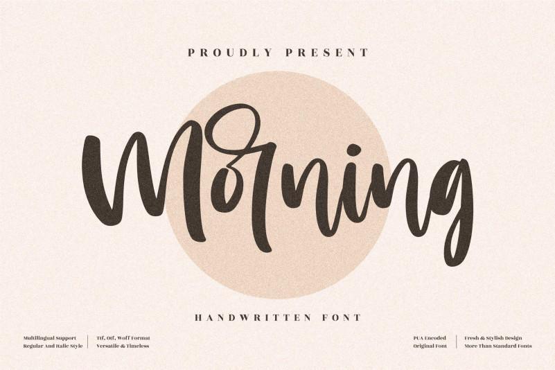 Morning Handwritten Font
