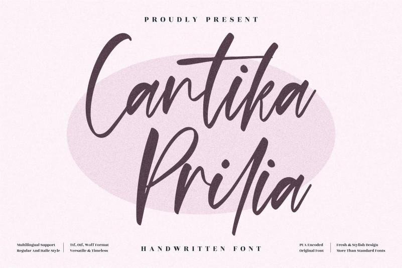 Cantika Prilia Handwritten Font