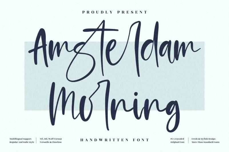Amsterdam Morning Handwritten Font