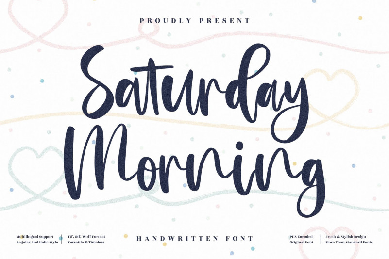 Saturday Morning Handwritten Font