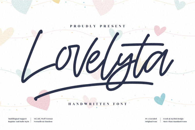 Lovelyta Handwritten Font