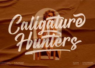 Caligature Hunters Calligraphy Font