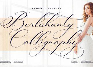 Berlishanty Calligraphy Script Font