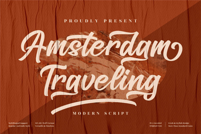 Amsterdam Traveling Calligraphy Font