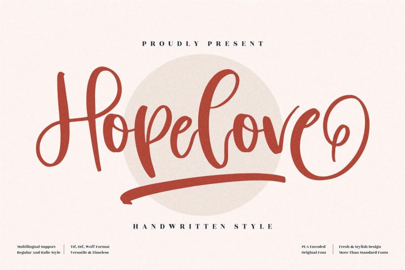 Hopelove Handwritten Font