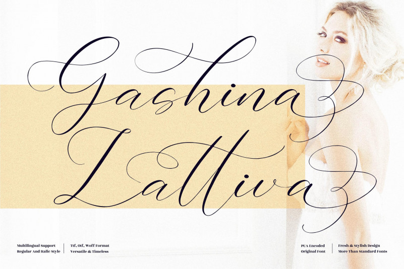 Gashina Lattiva Script Font