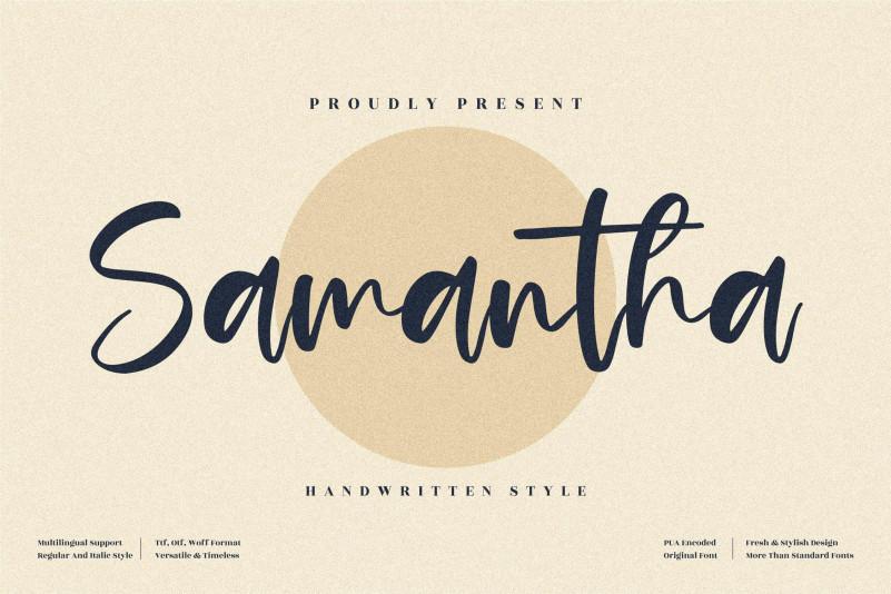 Samantha Handwritten Typeface