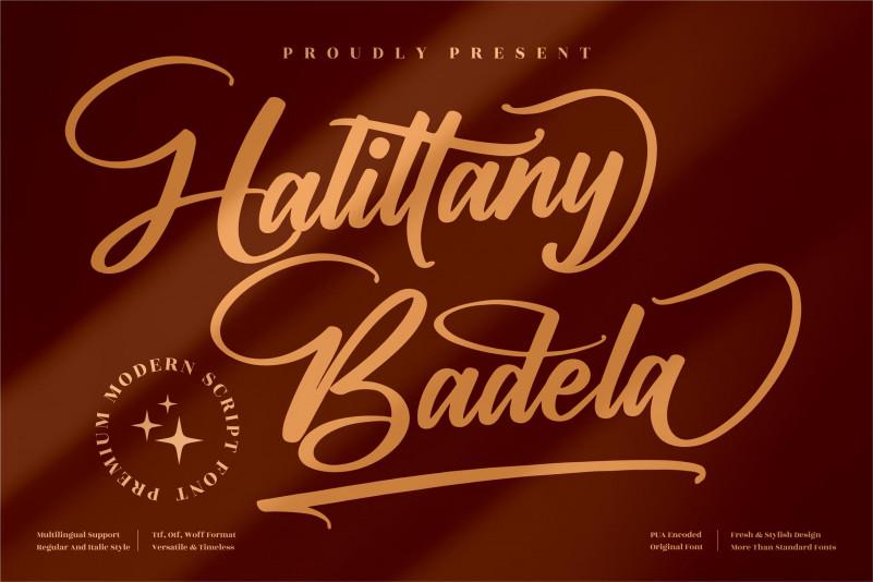 Halittany Badela Calligraphy Font