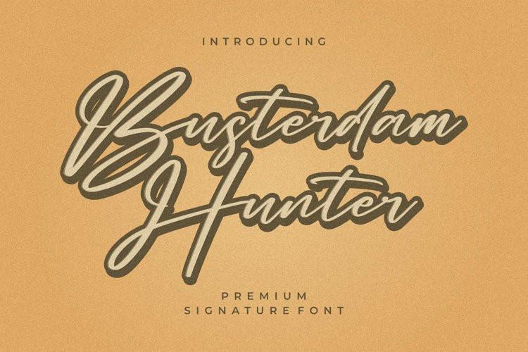 Busterdam Hunter Script Font