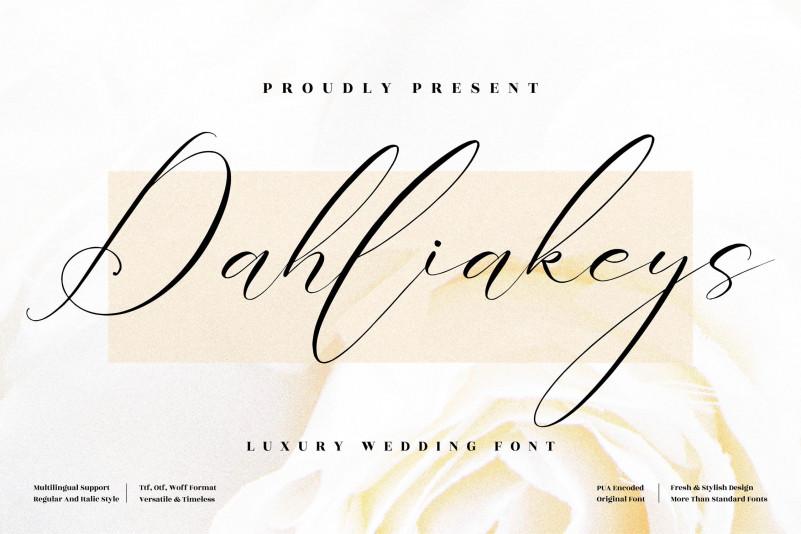 Dahliakeys Script Font