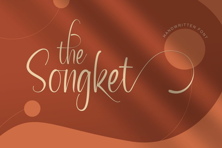 The Songket Calligraphy Font