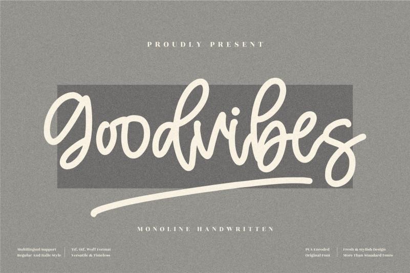 Goodvibes Script Font