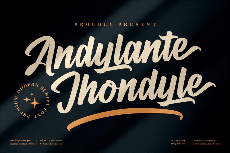 Andylante Jhondyle Brush Font