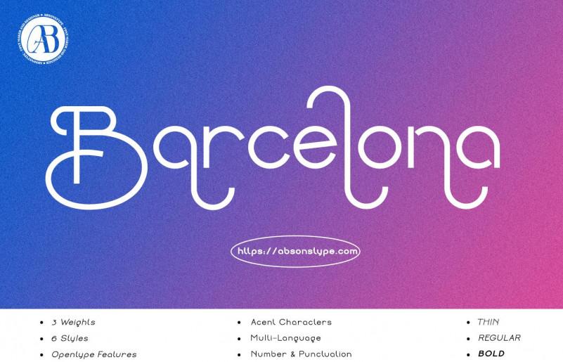 Barcelona Sans Serif Font