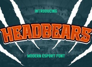 Headbears Display Font