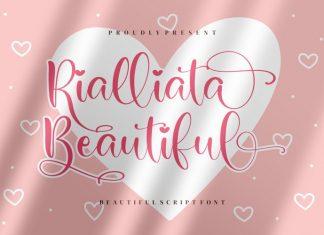 Rialliata Beautiful Calligraphy Font