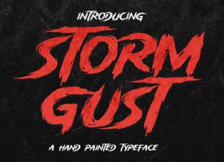 Storm Gust Display Font