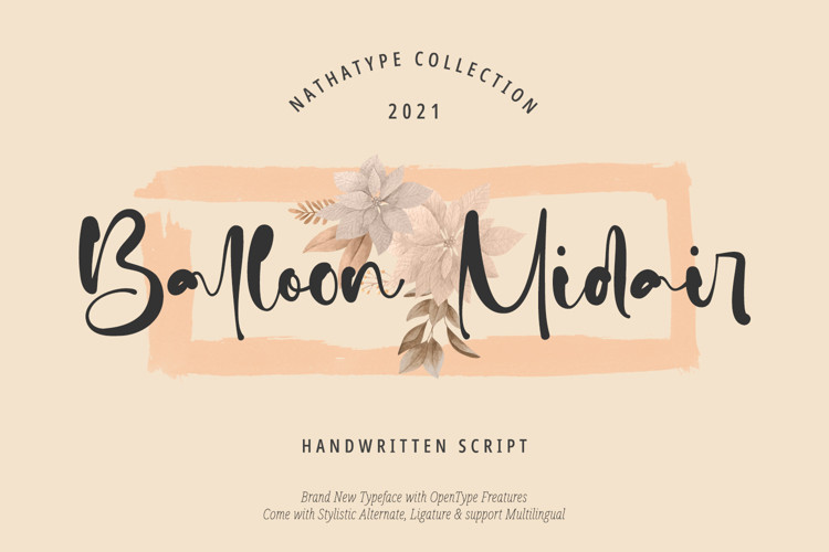 Ballon Midair Script Font